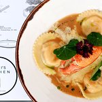 Home-made Lobster and Salmon Ravioli