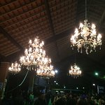Bookies Pavilion with chandeliers