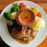 A very big Sunday lunch at only B240