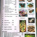 Yummy Pizza sample menu page