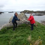 Swordplay in Ballintoy Harbour