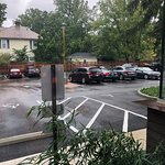 parking lot west of restaurant from inside