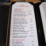 Swizzlestick Bar in Lowe's - Wine List