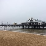 Cleethorpes Pier with the tide in