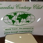 Travelers' Century Club Welcome Sign, Meeting Room Entrance