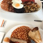 Small breakfast and Full Monty