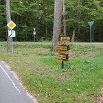Указатели на велосипедных маршрутах выглядят так.