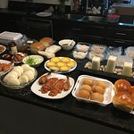My Lucky Bakery Buffet (Peking Duck-the steam buns & hoisin sauce from grocery store next door)