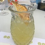 Nonalcoholic pineapple drink was superb - SO refreshing