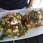 Moussaka & greek salad. Delicious!