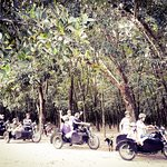 Get ready on sidecar to Cu Chi tunnels