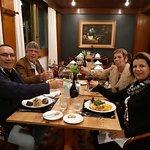 Jantar excelente, regado a um bom vinho