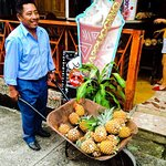 Livingston is the land of pineapples! Juan always make sure to deliver fresh pineapples everyday