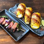 Jalapeño Poppers and corn elote