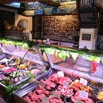 The Meat counter where you can order La Braseria