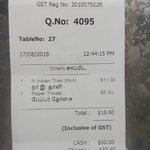 Lunch Bill