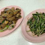 clams and dragon vegetables - super yums