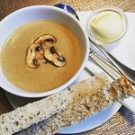 Homemade Hungarian Mushroom Soup and Doorstep Bread