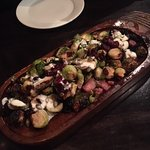 Autumn roasted Brussels sprouts