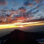 The sun rise from the top of mount kilimanjaro(Uhuru Peak)