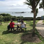 Dining in the Old Coastguard in the garden