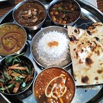 Sunday Lunchtime 'meat' Thali