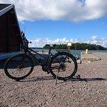 Själö Island harbour&Carfiled bike