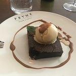 Chocolate Fudge with Ice Cream. A Heaven on Earth A+++