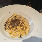 fettuccine with black truffle