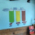 Wall painting of Salas menu