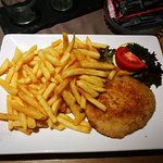 schnitzels with fries, such tender meat!