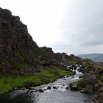 Thingvellir and the edge of the North American tectonic plate.