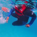 PFD50 life jacket makes it easy for non swimmers to snorkel