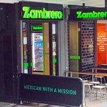 Zambrero's familiar logo and mission statement