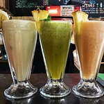 refreshing smoothies, made with locally sourced fresh fruit