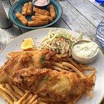 halloumi sticks and fish & chips