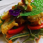 Monkfish Medalions with vegetables -