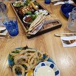 Sharing platter and Calamari to start