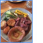 The Roast Beef with Craway glazed carrot, savoury Granola and Yorkshire pudding!