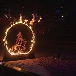 Jumping through a circle of flames