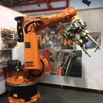 A robot from the assembly line