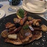 The seafood sampler appetizer was superb!