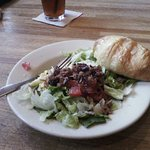 House salad and croissant
