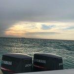 Leaving the island at sunrise