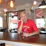Vid restaurangens bar !