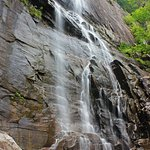 At the bottom of Hickory Nut Falls.
