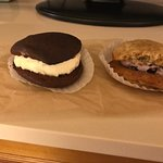 Regular Whoopie Pie and Special Blueberry Whoopie Pie
