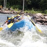 Powering into the rapids