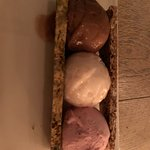 Ice Cream / Sorbet Selection, chocolate, rhubarb and strawberry
