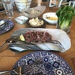 Wagyu Kibbeh Nayeh plate